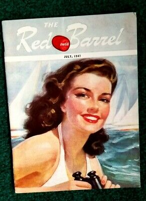 July 1947 The Red Barrel, Drink Coca Cola Magazine. Beauty On The Beach