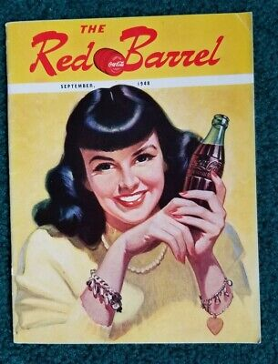 September 1948 The Red Barrel, Drink Coca Cola Magazine. Raven Hair Beauty