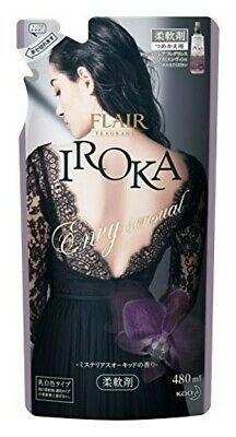 Kao Japan FLAIR FRAGRANCE IROKA Fabric Softener Envy Sensual 480ml Refill