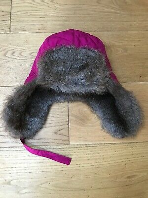 Girls Childs Joules Trapper Fur Hat VGC Age 4-8 Approx