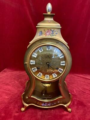 Vintage Swiss Boulle Clock Wall Mantel Clock Swiss made