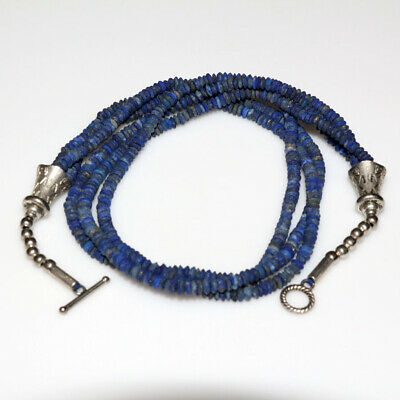 An Amazing Near East Bactria Lapis Lazuli Triple Necklace Ca 100 Bc-Ad