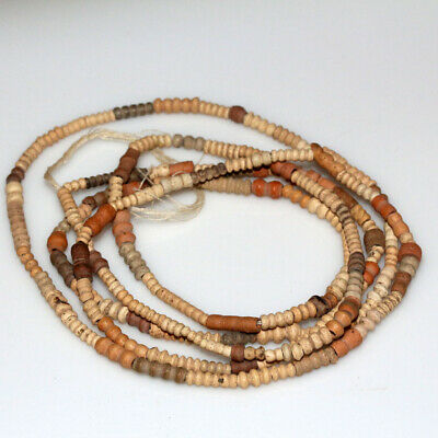 Egyptian Terracotta Beads Necklace Circa 500-300 Bc