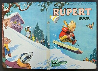 Rupert Annual 1956..Original..paint Contest Untouched...not Inscribed Or Clipped
