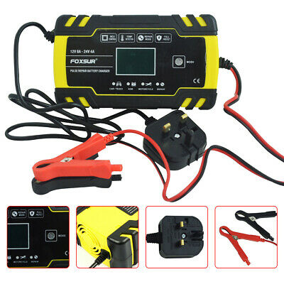 Intelligent 12V 24V Motorcycle Motorbike Battery Charger Automatic Smart Trickle