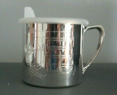 Oneida Silver Baby Sippy Cup in Plastic Case
