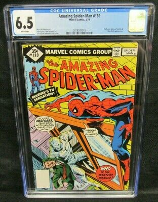 Amazing Spider-Man #189 (1979) John Byrne Cover Man-Wolf Appears CGC 6.5 P920