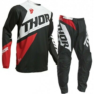 Thor 2020 Sector Blade Race Kit Suit Charcoal Red Motocross Mx Cheap All Sizes