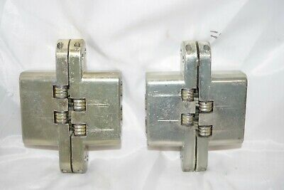 Soss Pair Theatrical Door Hinges 220 Vintage Dull Brass