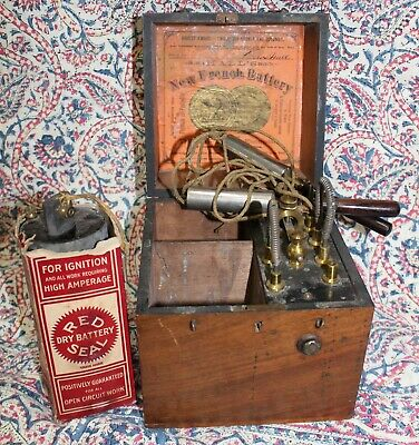Antique Electro Shock Therapy Machine Medical Quackery Hall's French Battery