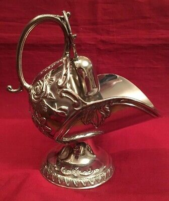 Vintage Silver Plated Sugar Scuttle With Scoop c.1970's