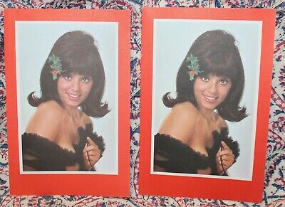 2 Vintage 1960s Playboy Magazine Christmas Gift Subscription Cards Pin-Up