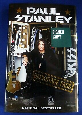 Signed Paul Stanley Kiss Backstage Pass Autographed Book First Edition Hardcover