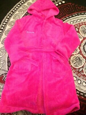 Beautiful hot pink fleecy girls princess dressing gowns age 8-9 years brand new