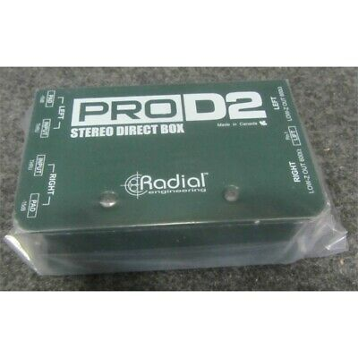 Radial Engineering ProD2 Stereo Passive Direct Box 20Hz To 20kHz