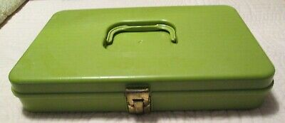 Green Sewing Kit Thread/Needle Holder Carrier Case