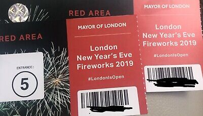 New Year Eve London Firework Display 2019/2020 Tickets x2 Blue Area