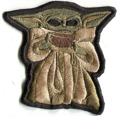 """Star Wars """"The Child"""" Baby Yoda Sipping Tea Embroidered Patch"""