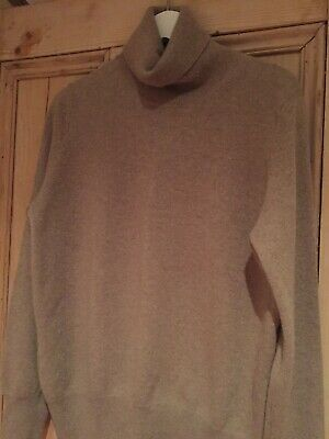 Marks And Spencer Autograph Pure Cashmere Roll Neck Jumper. 12/14