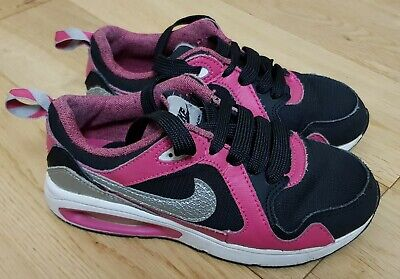 Nike Air Max Black And Pink Girls Trainers Size Uk 13