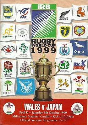 WALES v JAPAN RUGBY WORLD CUP 9th OCTOBER 1999 PROGRAMME