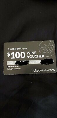 $100 Usd New Unused Naked Wines Wine Voucher/ Will Send Code And Password Email
