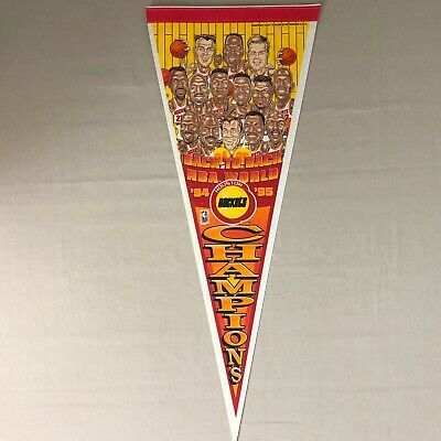 *Vintage* Houston Rockets 1994 and 1995 Back to Back NBA Champions Pennate