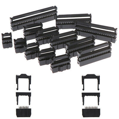 10x 6/8/10/12/14-50Pin IDC Socket Plug Ribbon Cable Connector 2.54mm Pitch I2