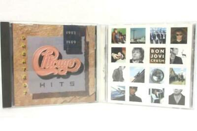 Vintage Rock Lot Of 2 CD's Bon Jovi Crush And Chicago Greatest Hits 1982 1989 CD