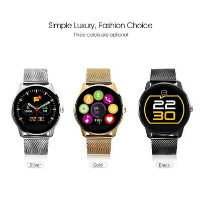 Waterproof Smart Watch Fitness Tracker Blood Pressure Heart Rate Tempered Mirror