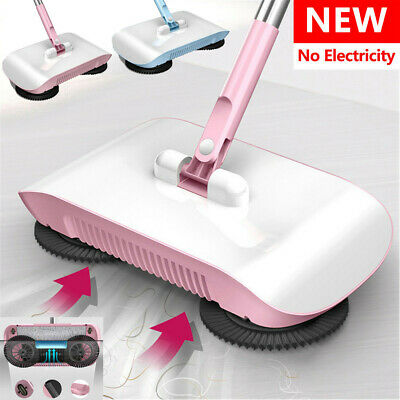 UK Spin Hand Push Sweeper Broom Household Floor Cleaning Mop without Electricity