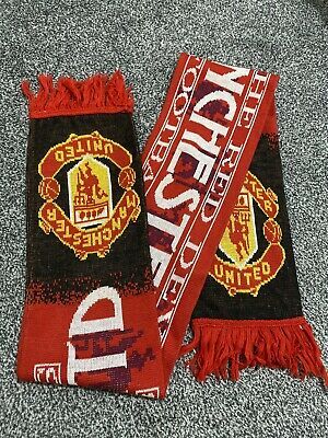 Original Vintage MANCHESTER UNITED Football Scarf MUFC Supporters Club Official