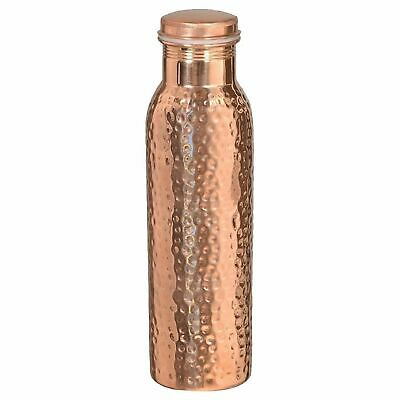 Hammered Pure Copper Water Bottle 950ml Pure Copper Water Flask High Quality