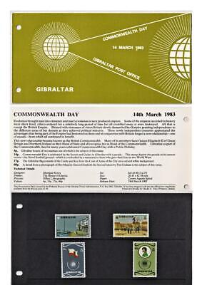 COMMONWEALTH DAY Gibraltar Post Office 1983 Stamp Presentation Pack SG 487-490