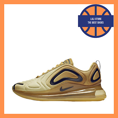 NIKE AIR MAX 720 Oro Nero Scarpe Sneakers Wheat Black