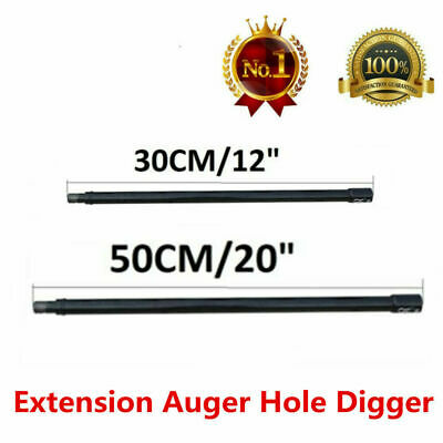 """Professional Extension Auger 20"""" 12"""" Long 3/4"""" Shaft Gas Post Hole Digger Earth"""
