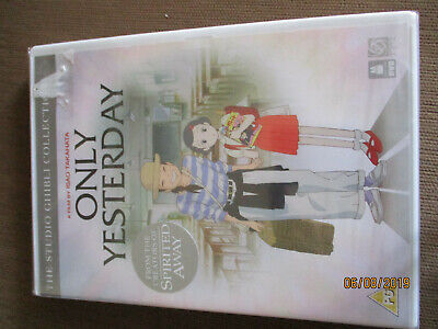 Only Yesterday DVD (2016) Isao Takahata New/Sealed FREE P&P