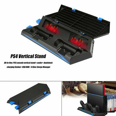 PS4 Vertical Stand Cooling Fan Dual Charging Station for Playstation 4 Dua Ql