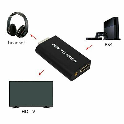 PS2 to HDMI 480i / 480p / 576i Audio Video Converter Adapter with 3.5mm Audio Ql