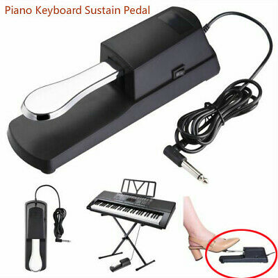 Midi Keyboard Electric Piano Sustain Pedal Foot Pedal Damper Polarity Switch NEW