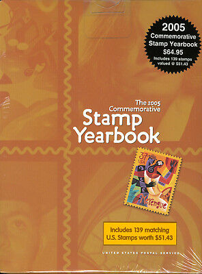 USPS 2005 Commemorative Stamp Yearbook with M/NH stamps