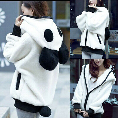 New Girls Lovely Panda Jacket Cardigan Women Hoodies Sweater Cartoon Plush Coat