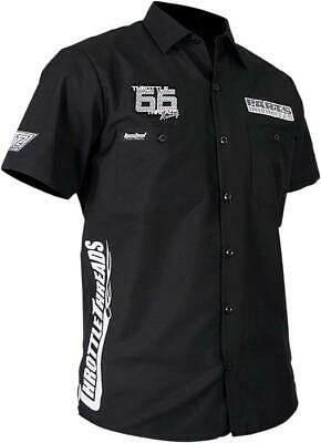 Throttle Threads Snow Shop Shirt Black X-Large