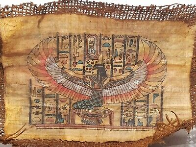 Rare Antique Ancient Egyptian papyrus God Isis Good Health Cure ill 1780-1690BC