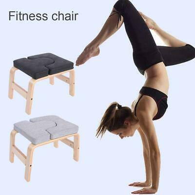 Yoga Inversion Chair Headstand Bench Exercise Fitness Stool PU Workbench Gym