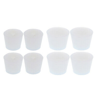 8pack Clear Glassware Silicone Stopper Plug Bung Cap Acid Resistant Airlock