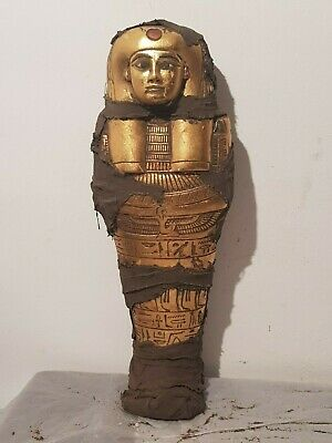 Rare Antique Ancient Egyptian Ushabti Servant God Isis Health Cure1760-1680BC