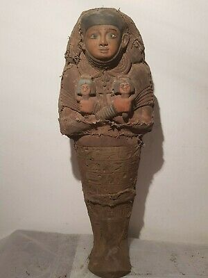 Rare Antique Ancient Egyptian Ushabti Servant Minions dead mummy 1840-1760BC