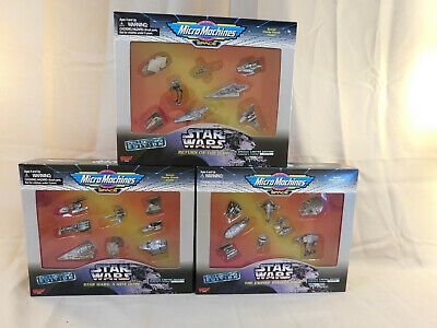 Lot of 3 1995 Galoob Star Wars Micro Machines Space Collector Edition Vehicles