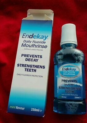 NEW Endekay Daily Fluoride Mouthrinse Mint Flavour 250ml Boxed BNIB